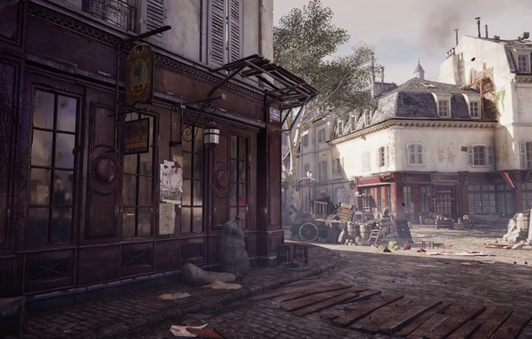 Photo wallpaper dirt, streets, business, assassin's creed unity