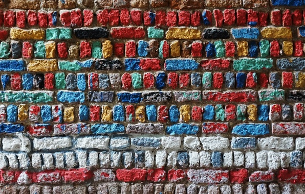 Picture color, background, wall, texture, bricks