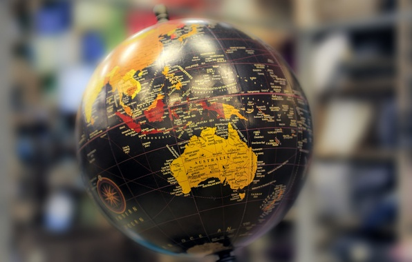 Picture background, ball, continents, globe