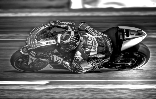 Picture race, motorcycle, Yamaha, Jorge Lorenzo
