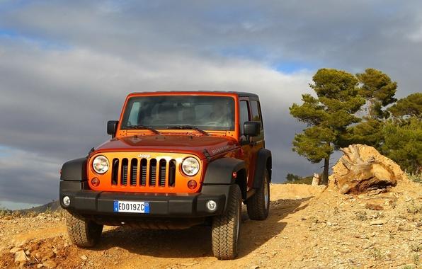 Picture orange, SUV, Jeep, orange, Rubicon, rubicon, jeep wrangler