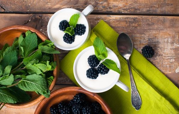 Picture food, blueberries, cream, dessert, blueberry, cream, dessert, milk, yogurt, yogurt