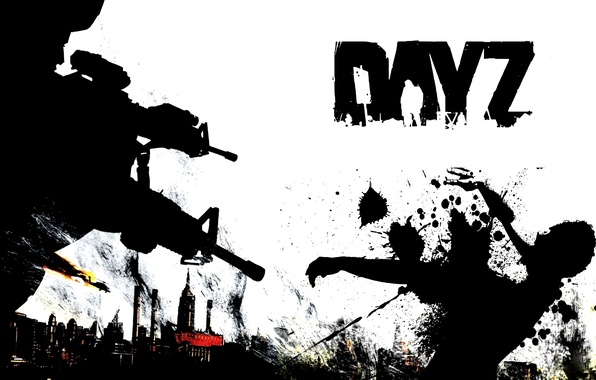 Picture the sky, weapons, war, blood, black and white, day, zombies, zombie, survival, DayZ, arma2, day …