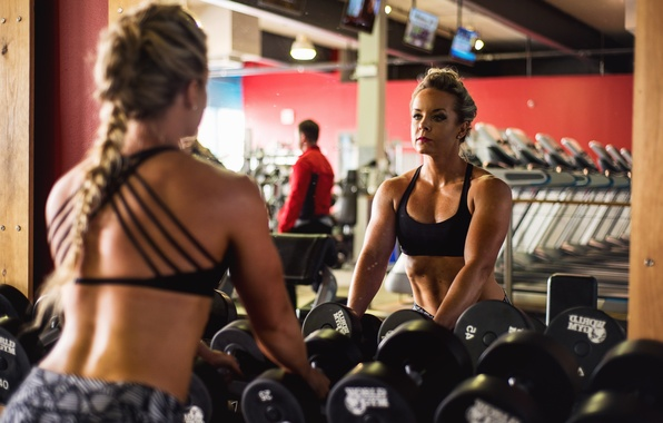 Picture reflection, mirror, workout, fitness, achieve goals