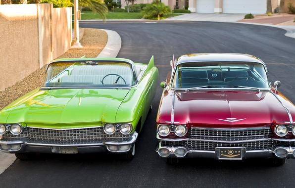 Picture retro, Cadillac, 1960, classic, the front, 1959