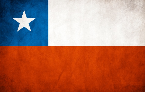 Picture color, star, flag, Chile, Chile