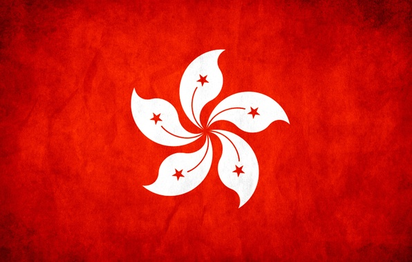 Picture red, stars, Hong Kong, flag, Texture