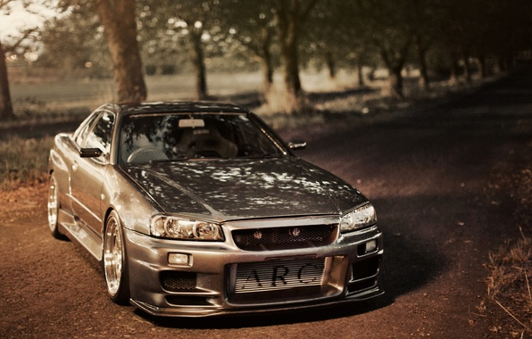 Picture road, tuning, Nissan, GT-R, Nissan, Skyline, R34, Skye