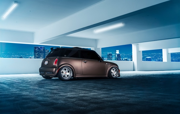 Picture Mini, Cooper, City, Matte, Parking, Stance, Rear, Ligth, Works, Nigth, Grown