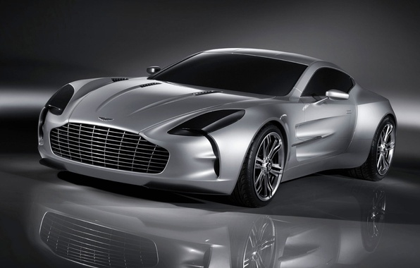 Picture reflection, Aston Martin, silver, ONE 77