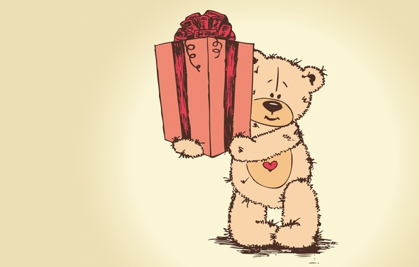 Picture gift, bear, Teddy, teddy bear, valentines day