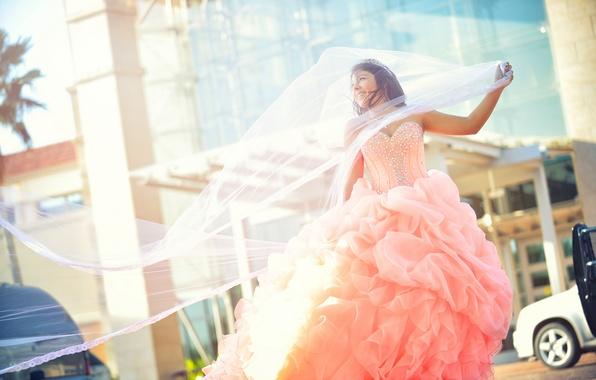 Picture girl, mood, dress, the bride, veil, wedding dress