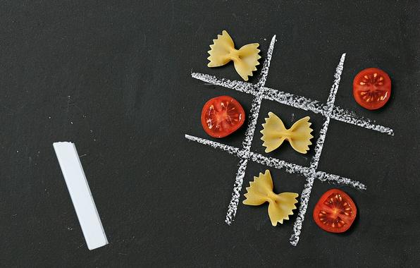 Picture tomato, Mel, pasta