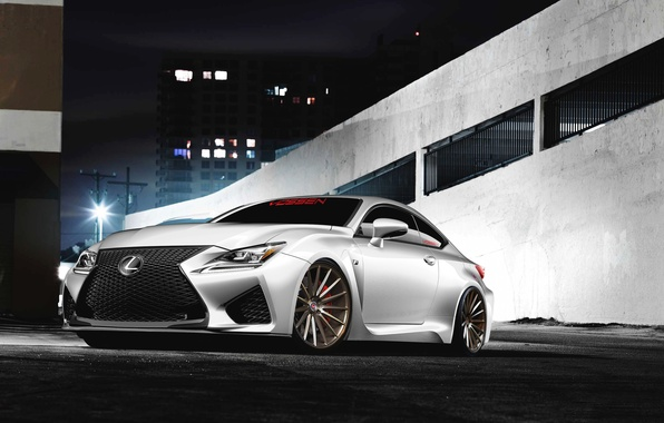 Picture Lexus, white, front, RC F