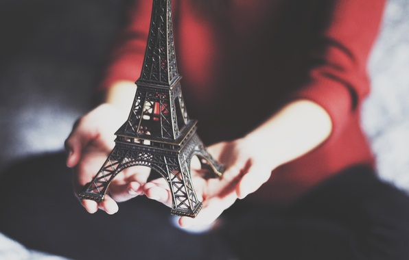 Picture Eiffel tower, hands, figure