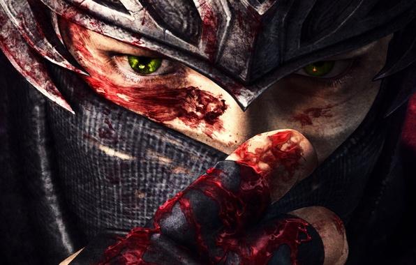 Picture eyes, blood, The game, art, Ninja Gaiden 3