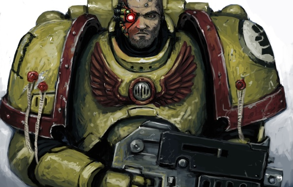 Picture Space Marine, armor, Warhammer 40,000, imperial