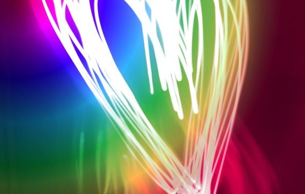Picture color, light, paint, colors, neon, Heart, heart