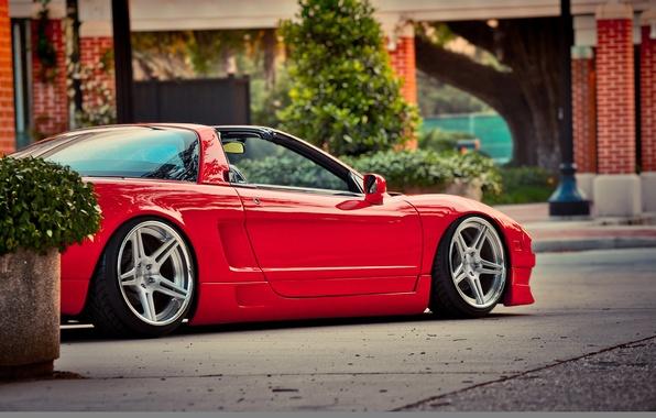 Picture auto, tuning, honda, red, Honda, nsx, acura nsx