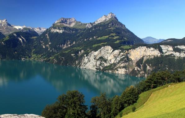 Picture landscape, mountains, nature, lake, Switzerland, Morschach