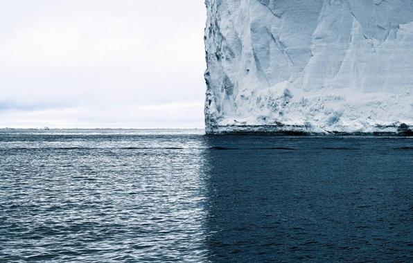 Picture Water, Snow, Sea, Minimalistic, Iceberg