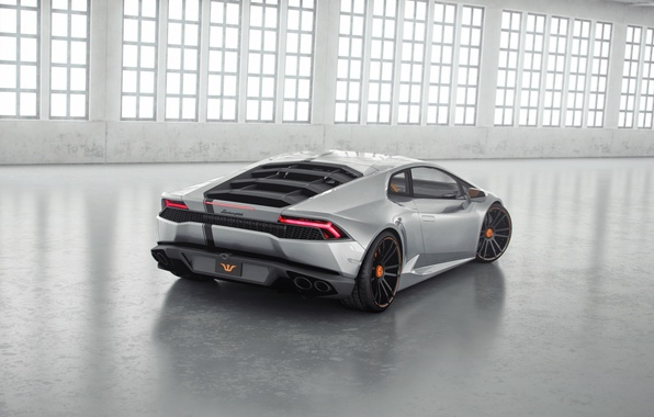 Picture Lamborghini, Tuning, Ass, Lamborghini, Supercar, Wheelsandmore, Tuning, Supercar, Silver, Rear, Huracan, Huracan, Silver, LP850-4, Lucifer