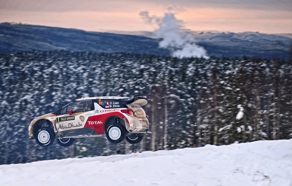 Picture Winter, Auto, Snow, Forest, Sport, Machine, Citroen, Citroen, DS3, WRC, Rally, Rally, Sebastien Loeb, In …