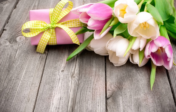 Picture flowers, gift, bouquet, tulips, fresh, flowers, tulips