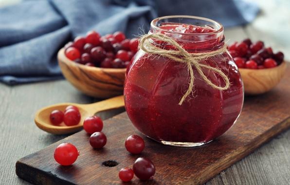 Picture berries, Bank, jam, jam, jar, bowls, cranberry