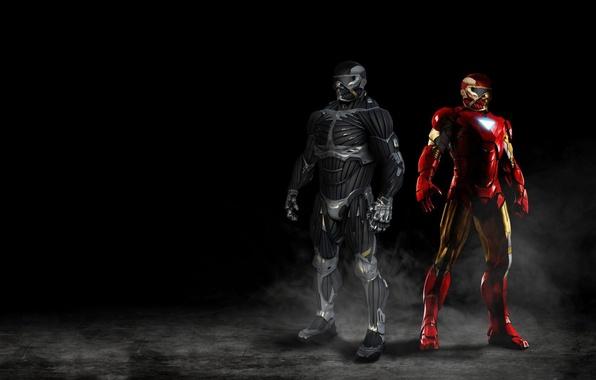 Picture Crysis, mecha, Crysis 2, Iron Man, man, Marvel, nanosuit, Crytek, hero, suit, Crysis 3, mist, …