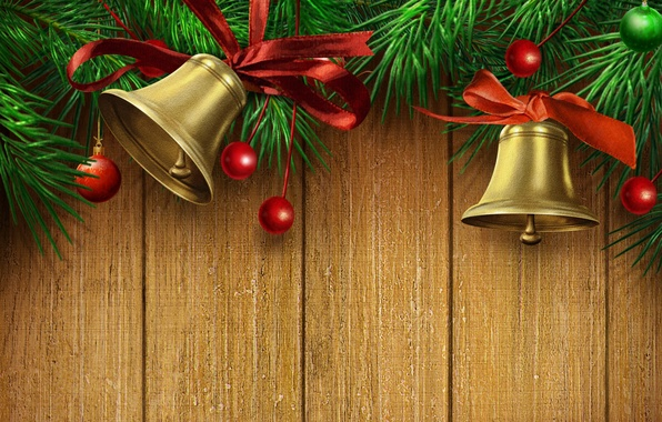Picture color, gold, sweetheart, beauty, colors, tape, red, golden, gold, beautiful, gold, bells, Happy New Year, …