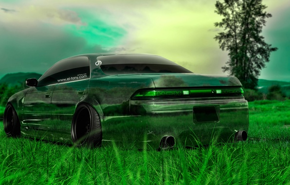Picture Nature, Auto, Grass, Machine, Tuning, Wallpaper, Japan, Toyota, Nature, Grass, Art, Green, Photoshop, Green, Design, …