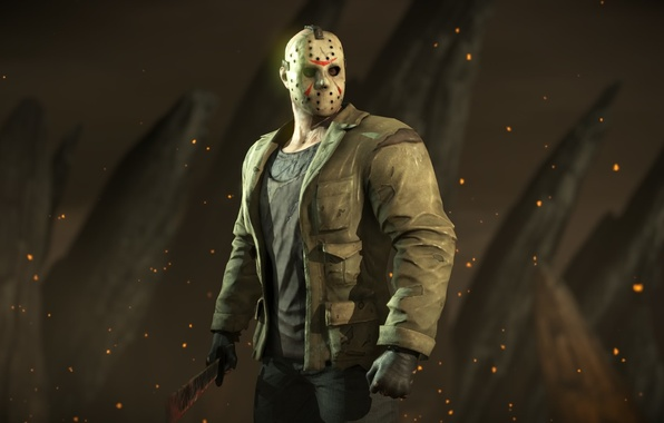 Picture mask, Friday the 13th, fighter, Mortal Kombat X, Jason Voorhees, mk 10