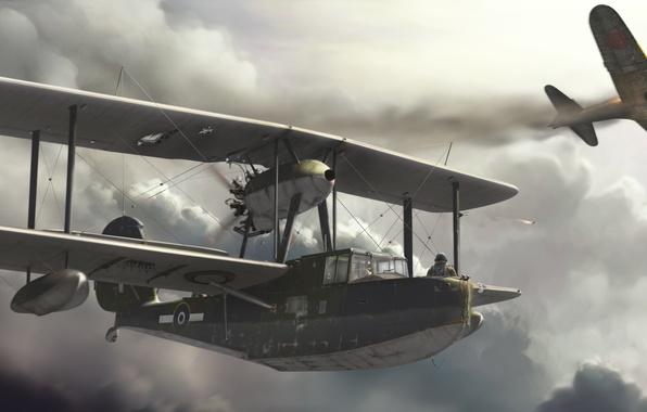 Picture the sky, The plane, seaplane, Supermarine Valrus, Supermarine Walrus
