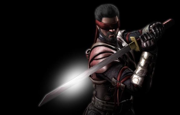 Picture sword, katana, headband, Mortal Kombat, Kenshi, Nancy, Mortal Kombat X, Kenshi, Kensi, Quincy
