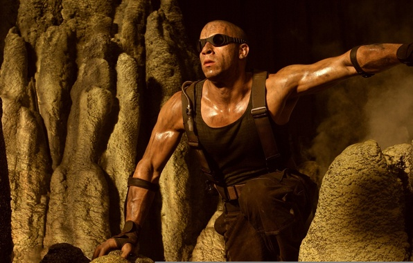 Picture dirty, man, bald, male, actor, The Chronicles of Riddick, The Chronicles Of Riddick, Director, vin ...