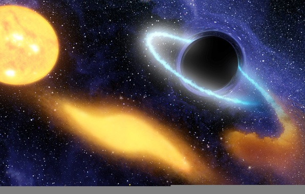 Picture hole, black, curvature, space