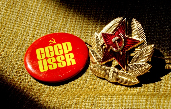 Picture background, star, icon, shadow, hammer, fabric, USSR, USSR, hammer, badge