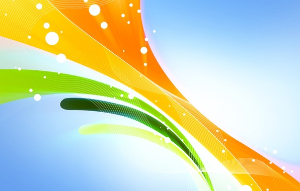 Picture line, orange, yellow, abstraction, green, background