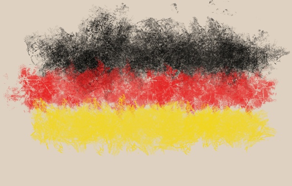 Picture yellow, red, black, flag, Germany, germany, flag
