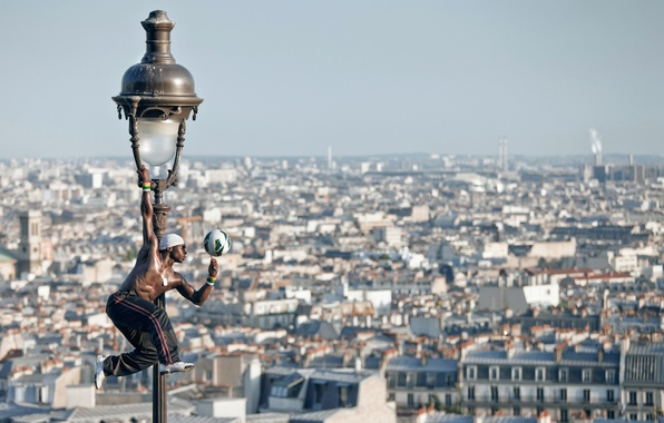 Picture France, Paris, the ball, panorama, lantern, Paris, player, France, Montmartre, Montmartre, Iya Traore, Iya Traore, …