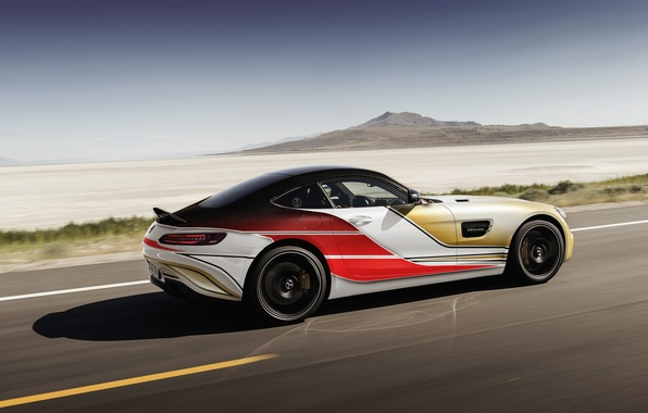 Picture road, car, mercedes, in motion, amg, rechange