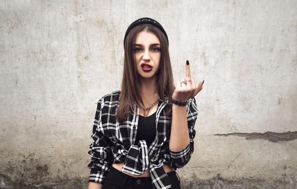 Picture girl, gesture, Vlada, minusovku