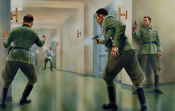 Picture figure, Germany, shootout, The second world war, The Wehrmacht, officers, conspiracy, 1944.