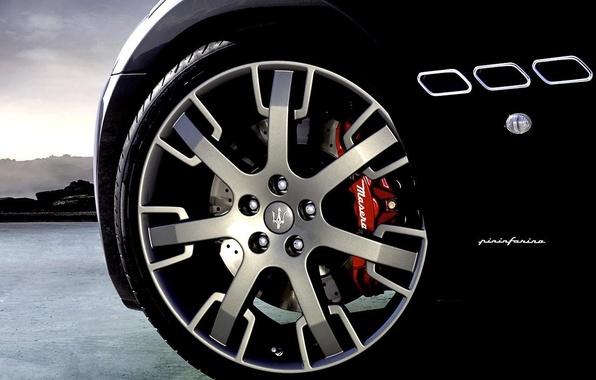 Picture Maserati, Black, wheel, Maserati