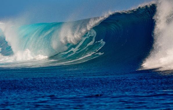 Picture sea, foam, squirt, wave, Lazur