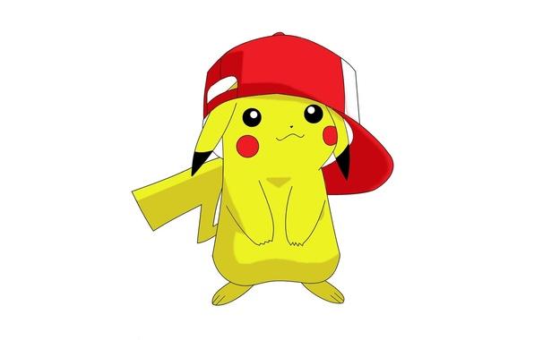 Picture game, yellow, anime, cap, Pokemon, cute, manga, Pikachu