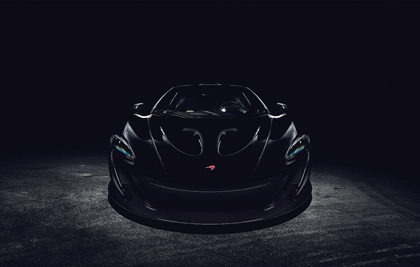 Picture black, McLaren, before, black, front, McLaren