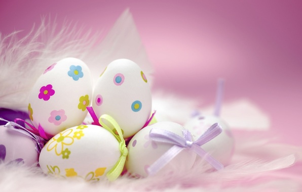 Picture holiday, eggs, feathers, fluff, Easter, Easter