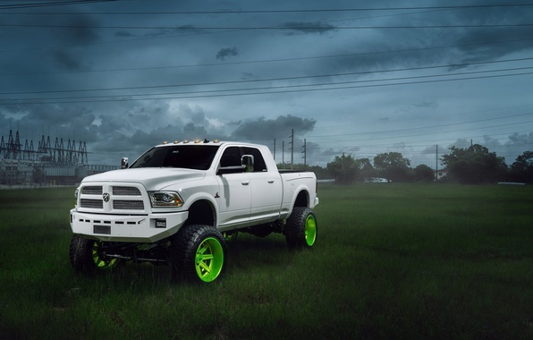 Picture car, tuning, SUV, white, pickup, 2500, dodge ram